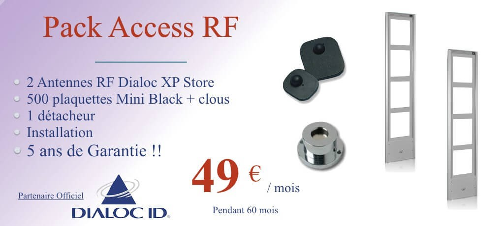 Pack antivol Boutique Access RF