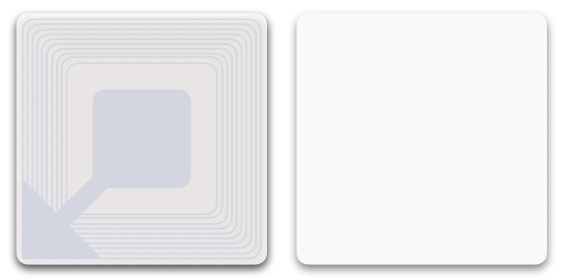 Etiquette antivol RF 4x4 Froid