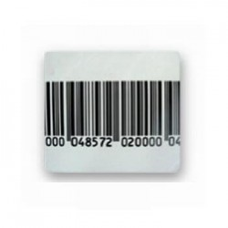 Etiquette antivol RF 5x5 faux code barre